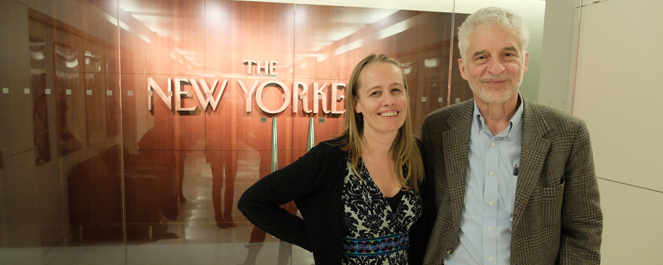 Paulien Bakker with DM at The New Yorker